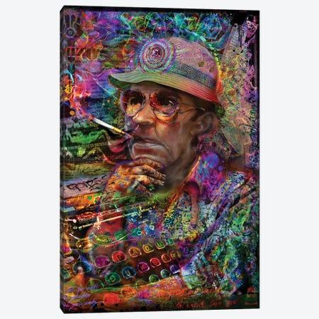 Dr. Hunter S Thompson Canvas Print #JIE21} by Jumbie Canvas Art Print