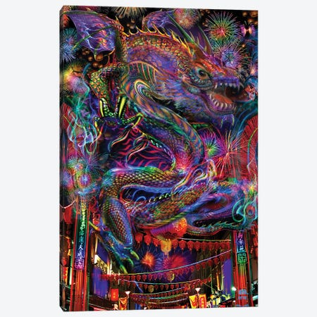 Dragon Canvas Print #JIE22} by Jumbie Art Print