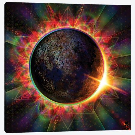 Eclipse Canvas Print #JIE24} by Jumbie Canvas Art