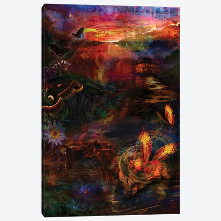 Amazon Travels Canvas Print #JIE2} by Jumbie Canvas Print
