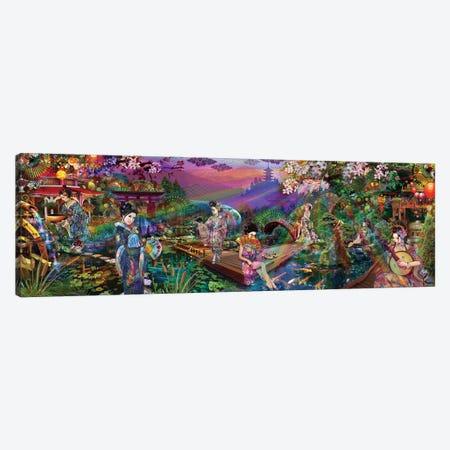 Geisha Garden Canvas Print #JIE32} by Jumbie Canvas Artwork