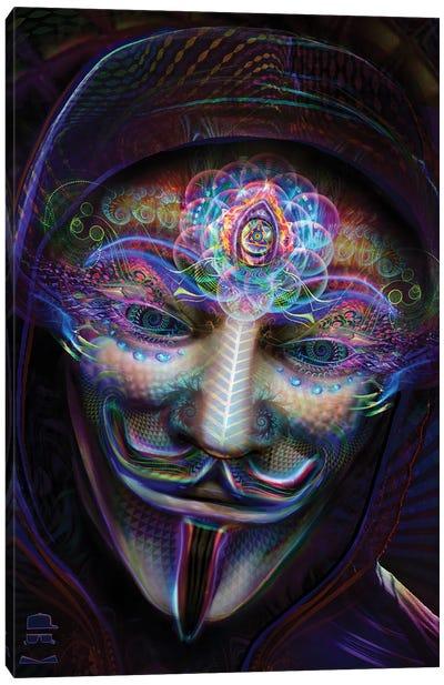 Guy Fawkes Eyes Open Canvas Art Print