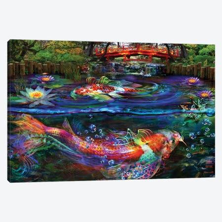Koi Fish Canvas Print #JIE42} by Jumbie Canvas Art Print