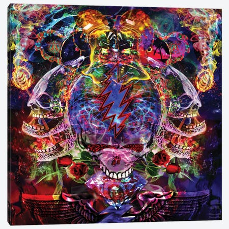 Melt Your Face Canvas Print #JIE47} by Jumbie Canvas Wall Art