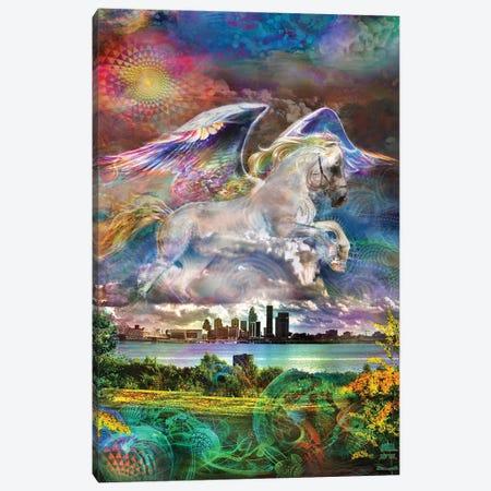Pegasus Canvas Print #JIE57} by Jumbie Art Print