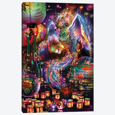 Phoenix Canvas Print #JIE58} by Jumbie Canvas Artwork
