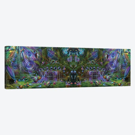 Sound Garden Mirror With Snails Canvas Print #JIE65} by Jumbie Canvas Artwork