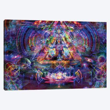 Astral Lotus Canvas Print #JIE6} by Jumbie Canvas Art