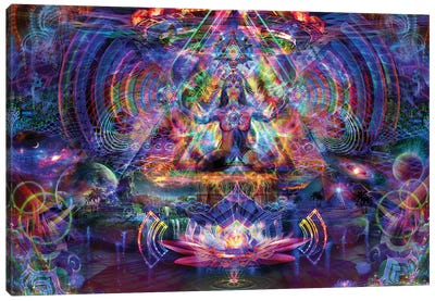 Astral Lotus Canvas Art Print