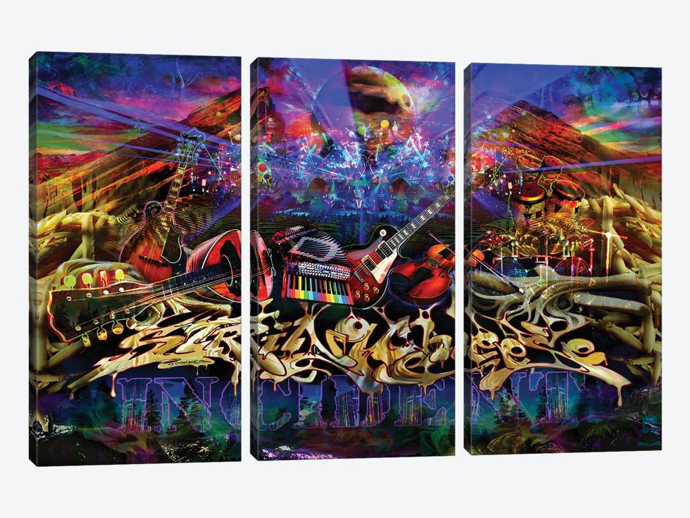 String Cheese Red Rocks by Jumbie 3-piece Canvas Art