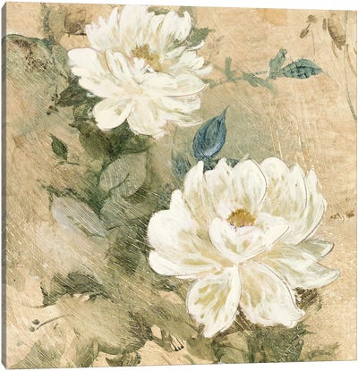 White Flowers I Canvas Art Print