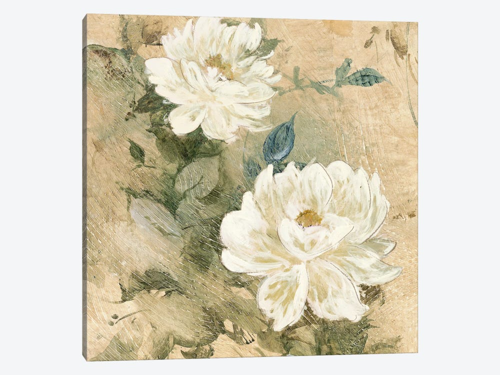White Flowers I by Jil Wilcox 1-piece Art Print