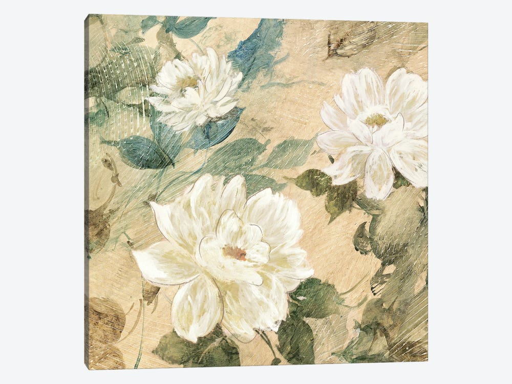 White Flowers II by Jil Wilcox 1-piece Canvas Artwork