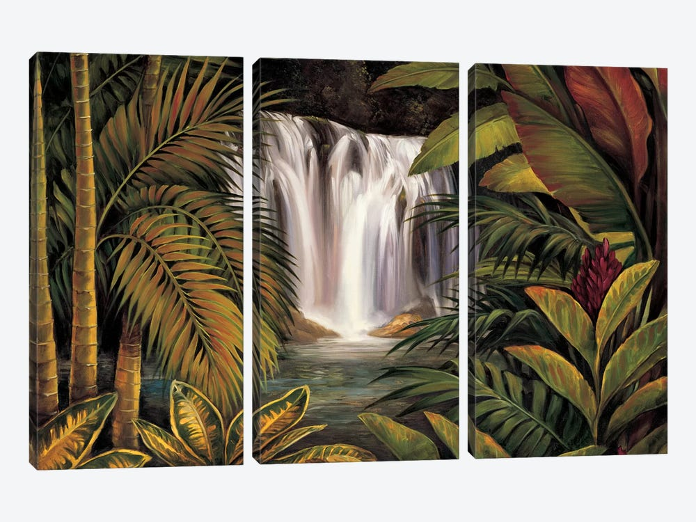 Sacred Pool I by Rodolfo Jimenez 3-piece Canvas Print