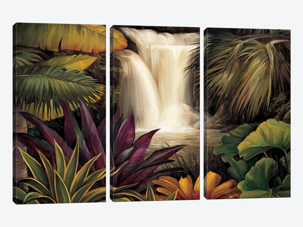 Sacred Pool II by Rodolfo Jimenez 3-piece Canvas Wall Art