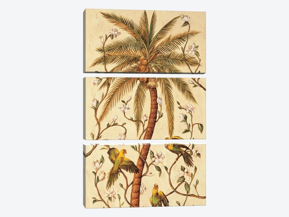 Tropical Panel I by Rodolfo Jimenez 3-piece Canvas Print