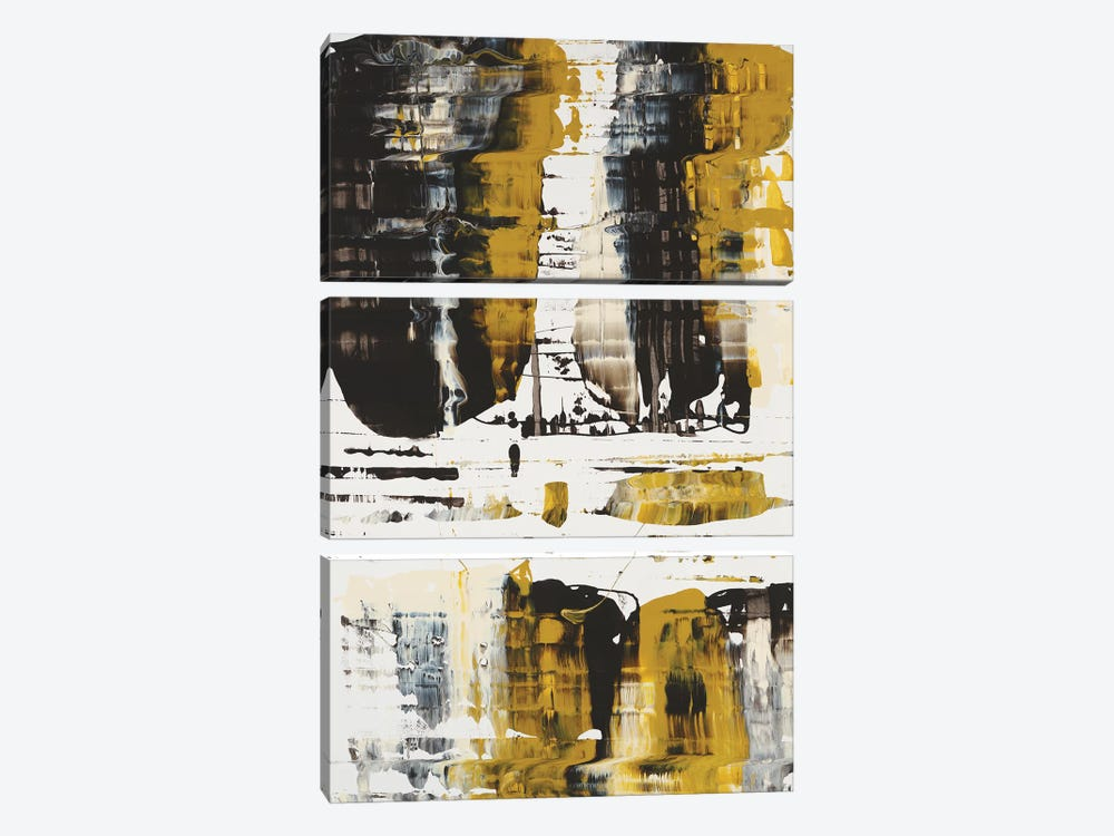 WC Velocity Gold by Jeff Iorillo 3-piece Canvas Art Print