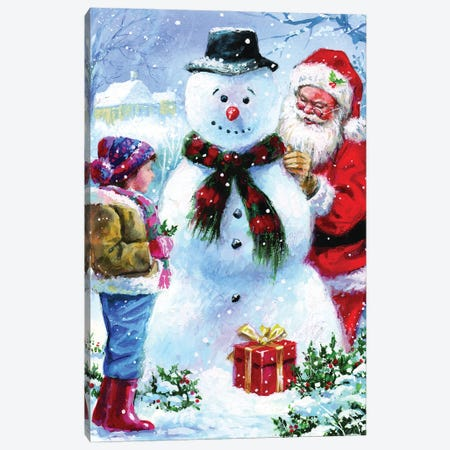 Joyful Santa Canvas Print #JIT2} by Jim Mitchell Canvas Art Print