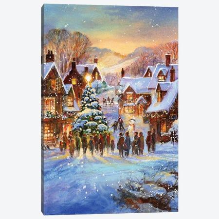 Snow Village Canvas Print #JIT3} by Jim Mitchell Canvas Print