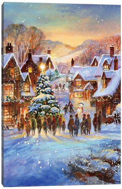 Snow Village Canvas Art Print