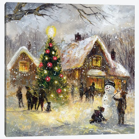 Tree Lighting Canvas Print #JIT4} by Jim Mitchell Canvas Art