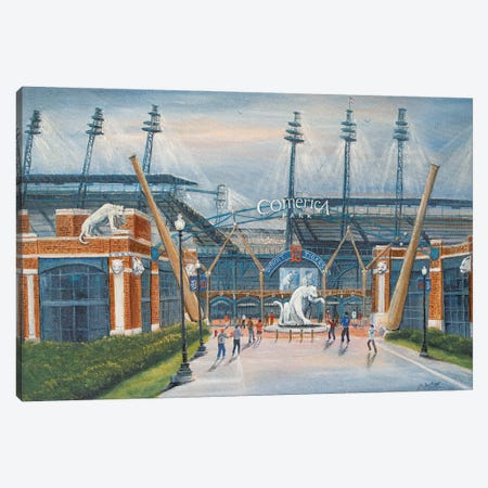 Comerica Park, Harwell Gate Canvas Print #JIW10} by Jim Williams Canvas Wall Art