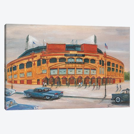 Comiskey Park Canvas Print #JIW11} by Jim Williams Canvas Artwork