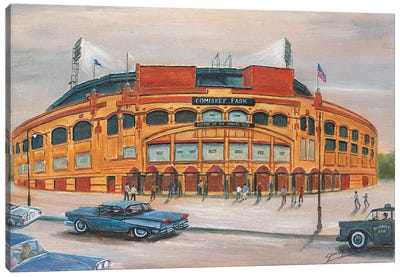 Comiskey Park Canvas Art Print