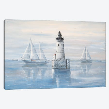 Detroit River Lighthouse Canvas Print #JIW12} by Jim Williams Canvas Artwork
