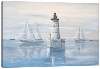 Detroit River Lighthouse Canvas Art Print