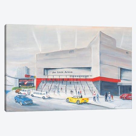 Joe Louis Arena Canvas Print #JIW17} by Jim Williams Canvas Art Print