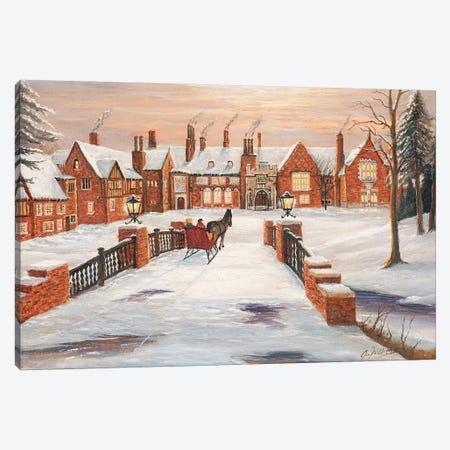 Meadow Brook Winter Canvas Print #JIW19} by Jim Williams Canvas Wall Art