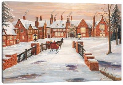 Meadow Brook Winter Canvas Art Print