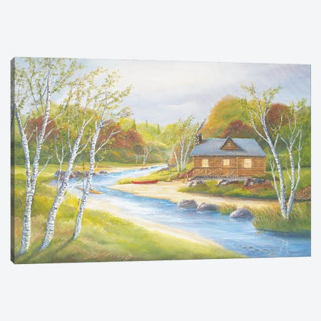 Autumn Kayaking Canvas Print #JIW1} by Jim Williams Canvas Wall Art