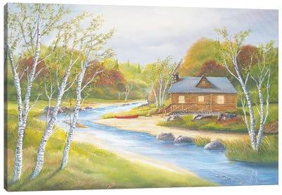 Autumn Kayaking Canvas Art Print