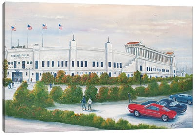 Old Soldier Field Canvas Art Print
