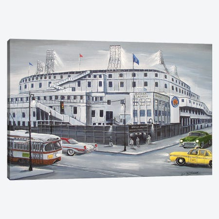 Briggs Stadium Canvas Print #JIW2} by Jim Williams Canvas Wall Art