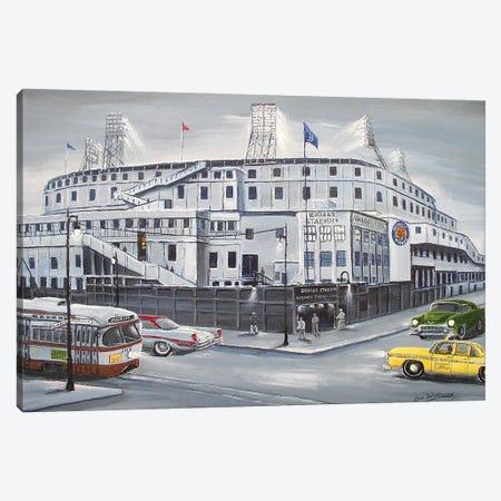 Briggs Stadium Canvas Print #JIW2} by Jim Williams Canvas Wall Art