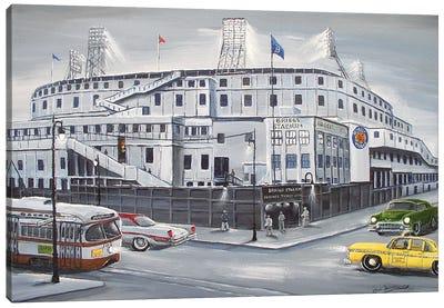 Briggs Stadium Canvas Art Print