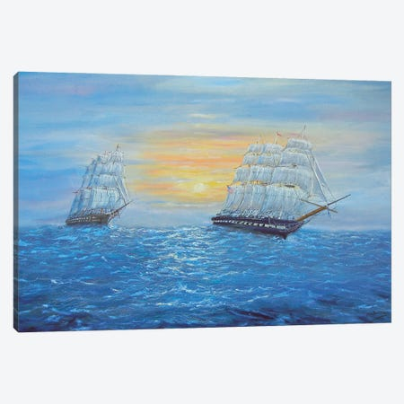 Ship USS Constitution Canvas Print #JIW32} by Jim Williams Canvas Art
