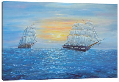 Ship USS Constitution Canvas Art Print
