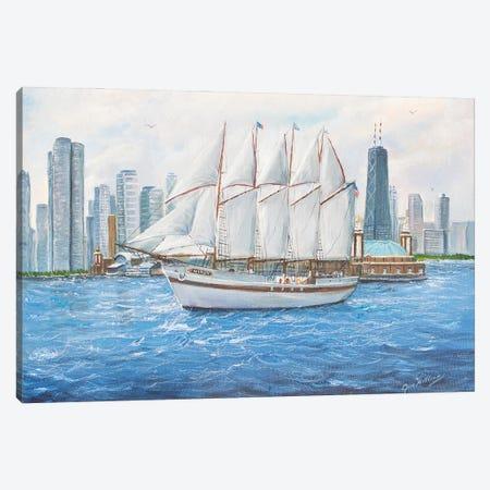 The Windy Canvas Print #JIW37} by Jim Williams Art Print