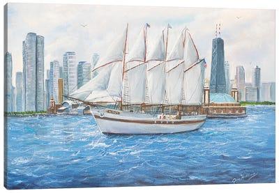 The Windy Canvas Art Print