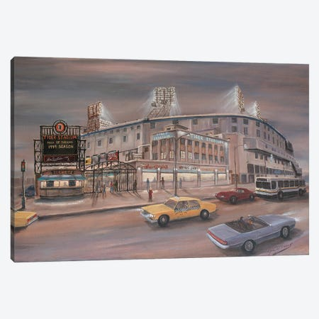 Tiger Stadium Canvas Print #JIW38} by Jim Williams Canvas Artwork