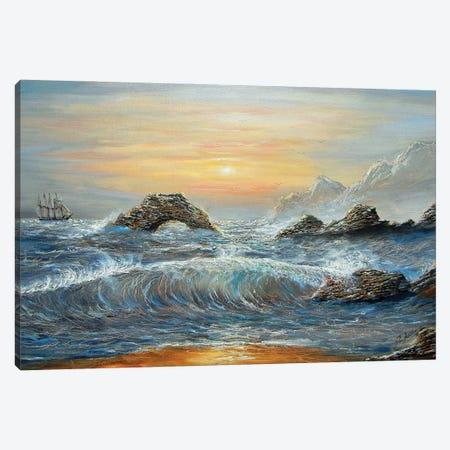 Wendis Bathroom California Coast Canvas Print #JIW40} by Jim Williams Canvas Art Print
