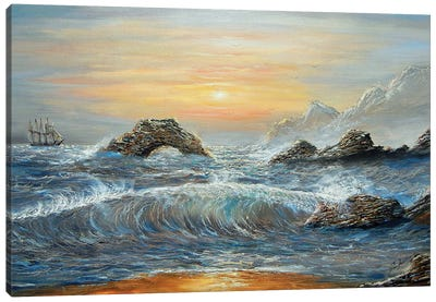 Wendis Bathroom California Coast Canvas Art Print