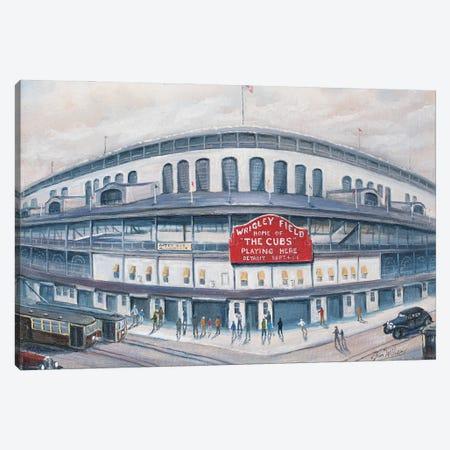 Wrigley Field Canvas Print #JIW42} by Jim Williams Canvas Print