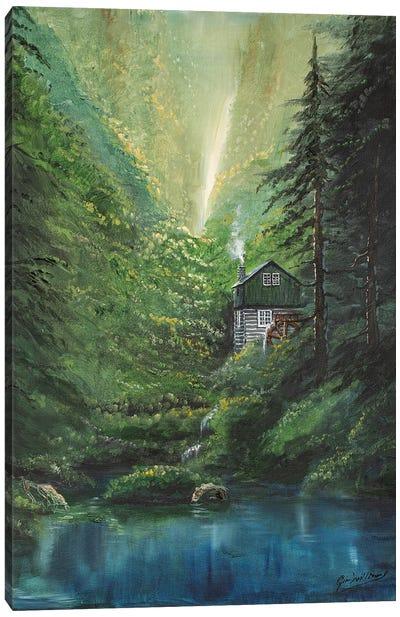 Canyon Cabin Canvas Art Print
