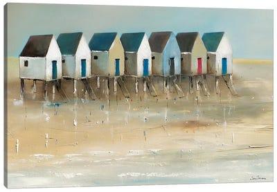 Beach Cabins I Canvas Art Print