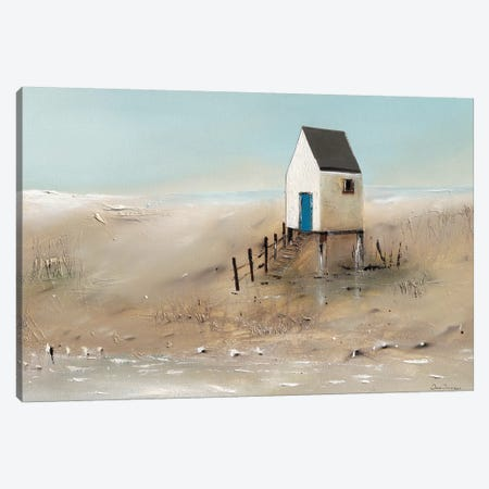 Beach Cabins II Canvas Print #JJA2} by Jean Jauneau Canvas Art